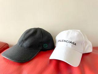Gucci Balenciaga logo classic cotton black white Cap basketball hat 帽