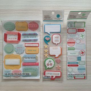 Martha Stewart Crafts Scrapbooking Labels and Stickers (Travel & Baby Boy)