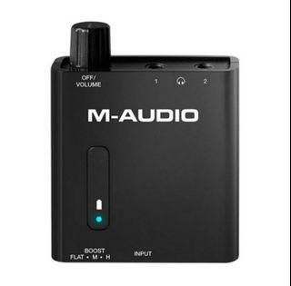 M-Audio Bass Traveler Headphone Amplifier With 2 Outputs & 3 Step Bass Boost Switch With Hi-Fi Sound Quality