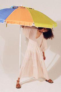 New !! ZARA Check Midi Dress