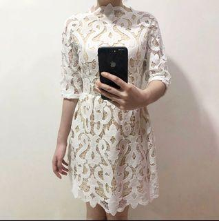 OSMOSE white pattern dress