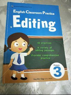 P3 English  Editing assessment book