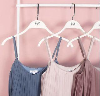 Fayth Pastel Pink Pixie Pleated Cami Tank Top