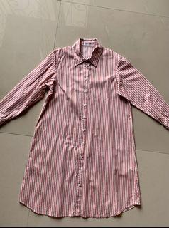 Pink dress hem