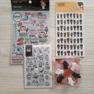 Rabbit clips and stickers