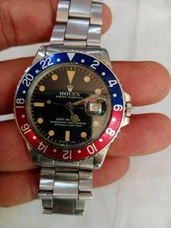 Rolex gmt patina dial  1675 th 72 full original