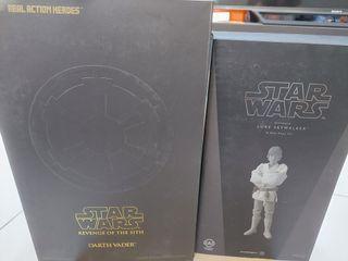 Star Wars Medicom bundle Luke Skywalker and Darth Vader