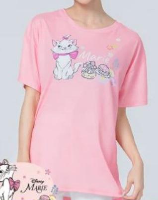 WIWI 涼感衣 T恤 T-SHIRT 寬版 櫻旅 瑪麗貓marie cat 防曬 排汗衫 DISNEY迪士尼 官方正版