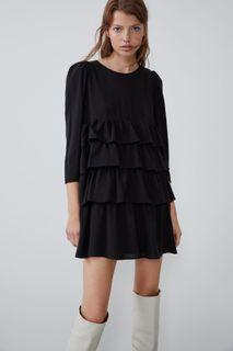 Zara ruffled dress trf