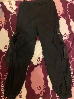 黑色工裝褲