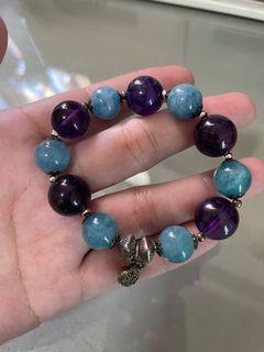 紫水晶🔮海藍寶💰手環
