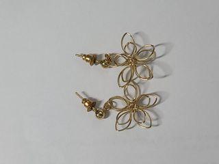 立體花 耳環