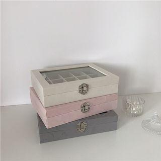 [全新] 現貨 莫蘭迪色質感絨布首飾盒耳環戒指項鍊手鍊飾品收納盒