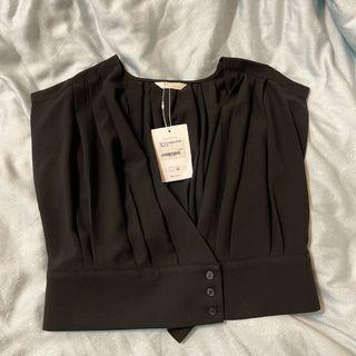 正韓 西裝材質背心 造型上衣