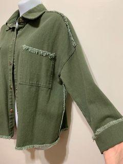 正韓🇰🇷牛仔外套 墨綠外套 流蘇外套 口袋外套 排釦外套