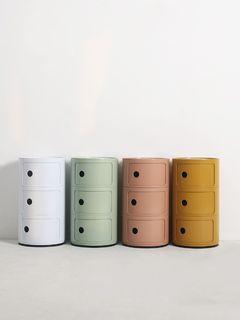 [全新] 北歐風韓國ig圓形筒狀收納櫃儲物櫃床頭櫃邊桌茶几