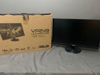 "ASUS VP249 LCD MONITOR 144hz   23.8""  1080p DISPLAY"