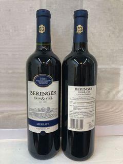 Bering we main & vine merlot California  2017 red wine ( USA)