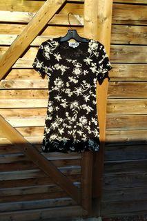 BNWOT Black floral dress
