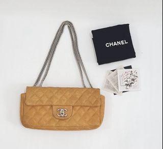 Chanel Medium Flap Tan Calf SHW #12