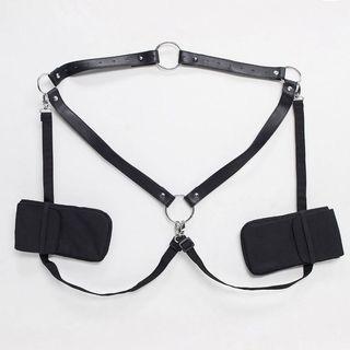 Crossbody cross body harness holster bag in black #NakUpgrade