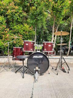 Drum set rolling BD series lengkap