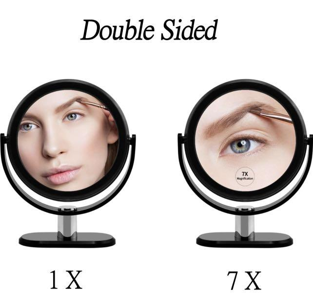 Gorwrich Makeup Mirror Double Sided, Floxite Daylight 1x 10x Cosmetic Mirror