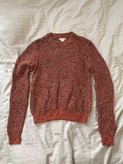 H&M heathered orange knit sweater - SIZE XSMALL