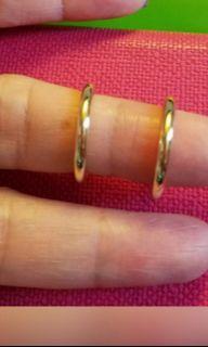 Italian 18K750 Yellow Gold Loop Earrings  20mm    100% Genuine and New