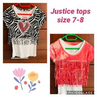 Lot - Justice tops size 7-8