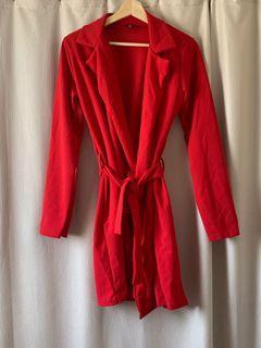missguided blazer wrap dress