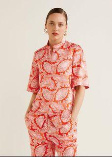 New !! Mango Paisley Print Blouse