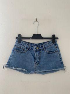 SHEIN blue jean denim mini skirt - SIZE SMALL