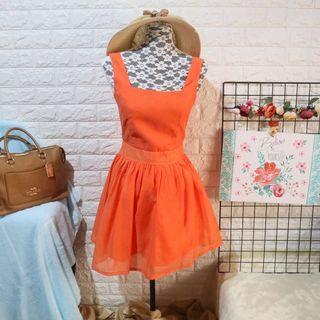 Summer Orange Dress