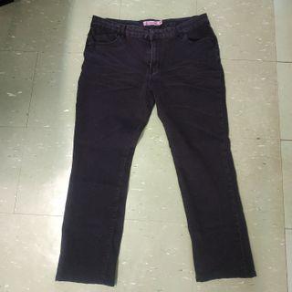 女裝黑色牛仔褲4XL