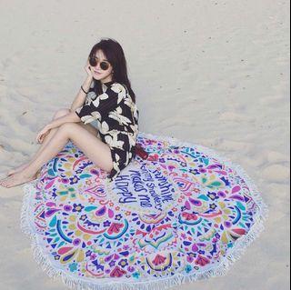 海島度假風・圓形萬用毯 維度