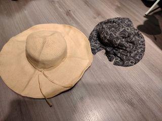 合售兩件 編織帽+遮陽帽
