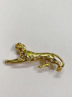 復古精緻別針 胸針 金錢豹
