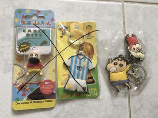 蠟筆小新 鎖匙扣 繞線器 世界杯 馬勒當拿