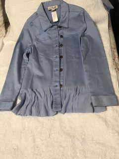 Blue blouse with mesh back
