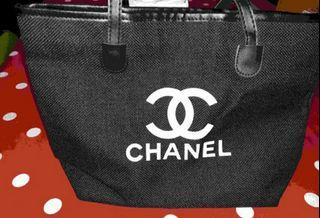 Chanel Inspired Canvas Tote Purse