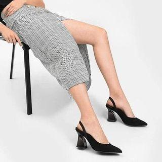 Charles&Keith - Suede Glass Heels 210