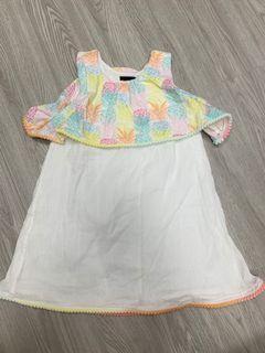 美國Cynthia Rowley棉雙層小洋裝 2-3T 100公分