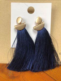 Forever21 - Blue Tassle Earrings