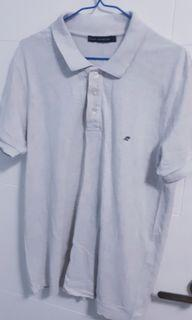 FRENCH CONNECTION FCUK MENS GREY POLO SHIRT SIZE L HKD 40.00