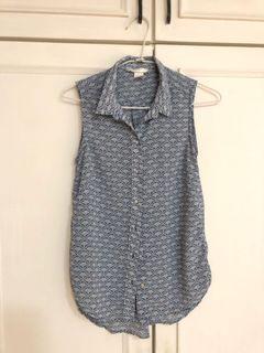 H&M 削尖無袖上衣(上班百搭款)