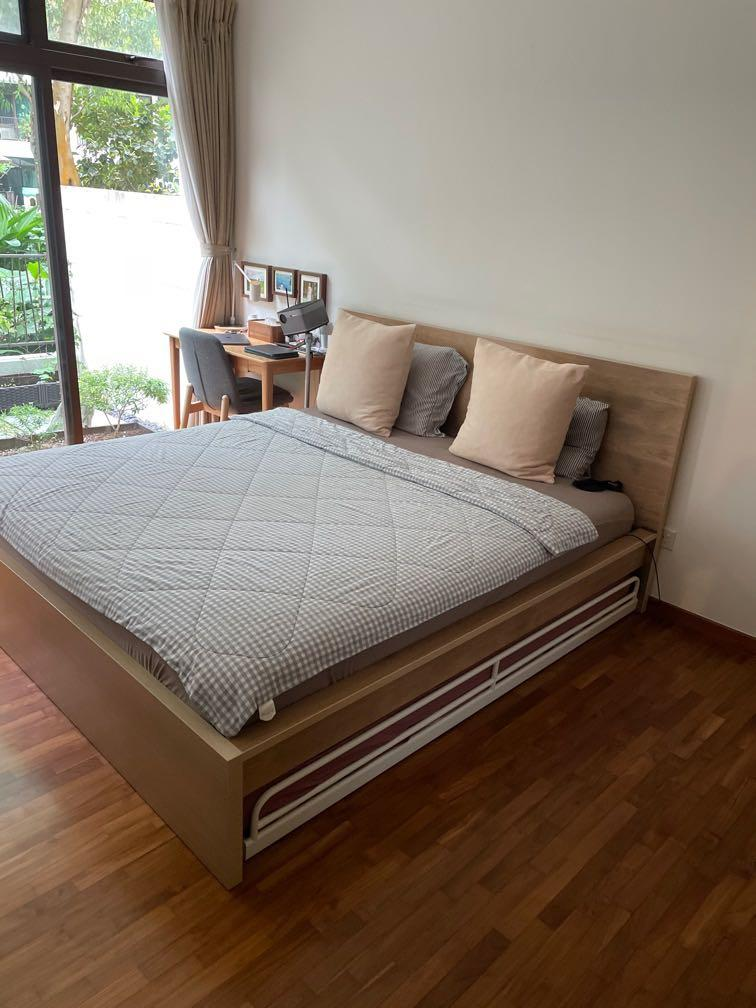 Ikea Malm Bed Frame Mattress King Size Furniture Home Living Frames Mattresses On Carousell