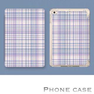 🎉🎉iPad case ~ purple check