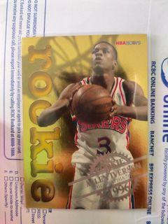 NBA Allen Iverson Gold Foil Rookie