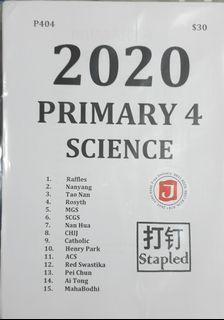 P4 Science 2020 Jimmy Exam paper